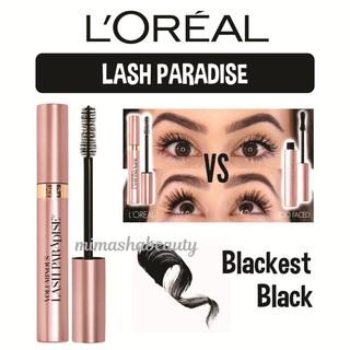 3bc1c523f4e L'oreal Loreal Lash Paradise Washable & Waterproof Mascara - Blackest Black    Shopee Indonesia