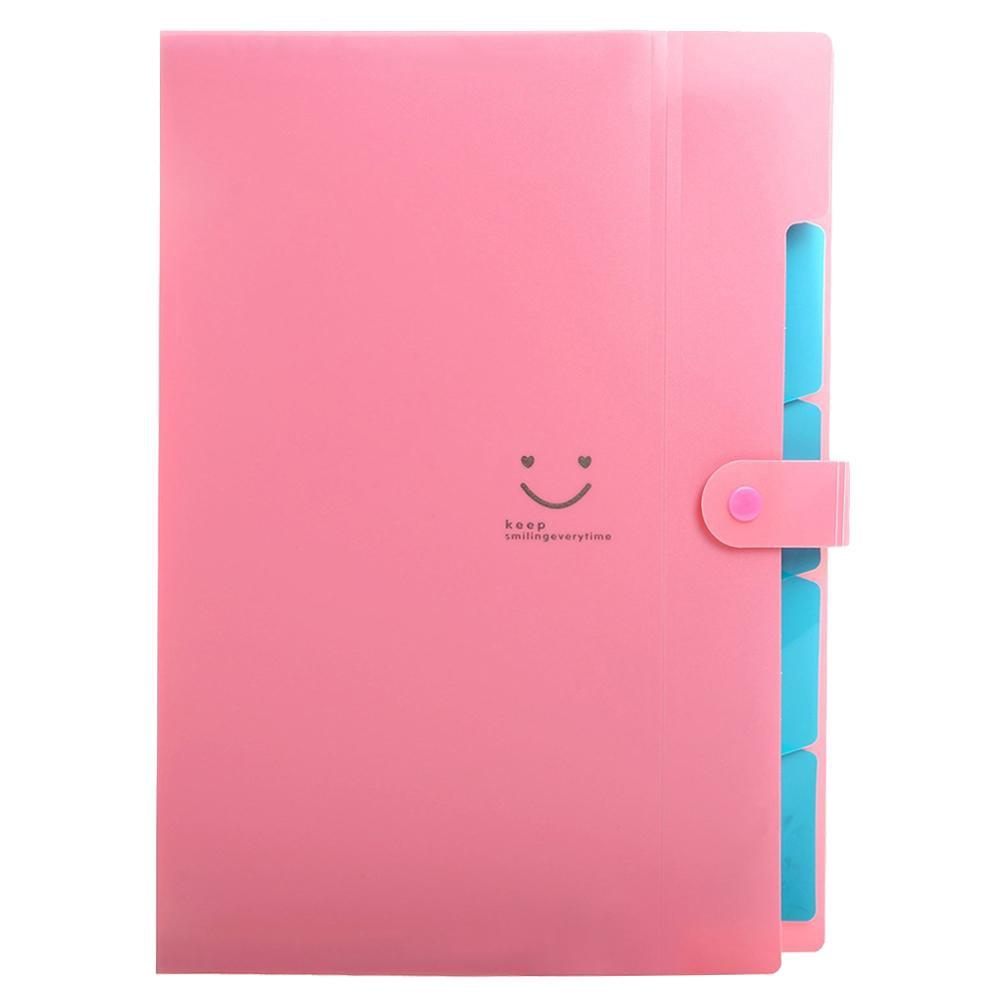 Fice Plastic Folders Multi Pocket Organizer A4 File Portable Expansion Paper Document Folder