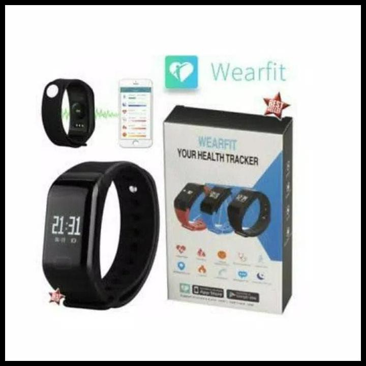 Best Seller Jam Tangan Kesehatan / Smartwatch Wearfit F1 - Smart Bracelet  Heart Ra Qr0239