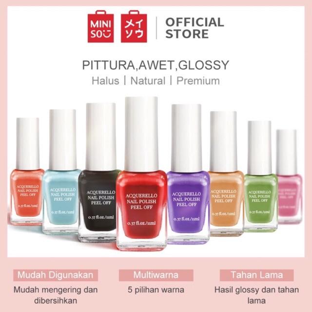 Kutek Gell By Miniso Miniso Nail Polish Water Based Ready Surabaya Shopee Indonesia