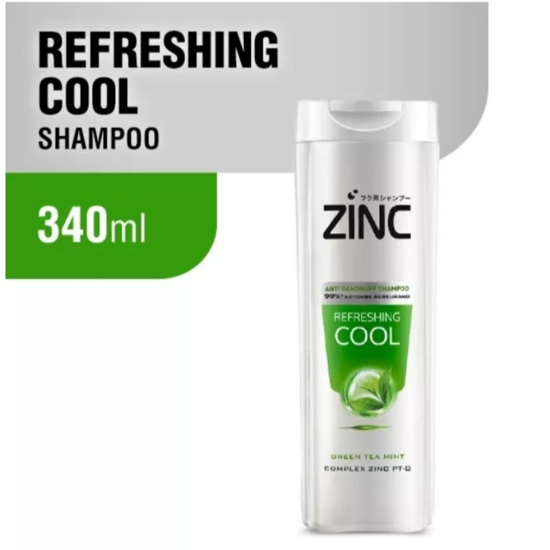 (340 ml) zinc shampoo botol besar-Refreshing cool