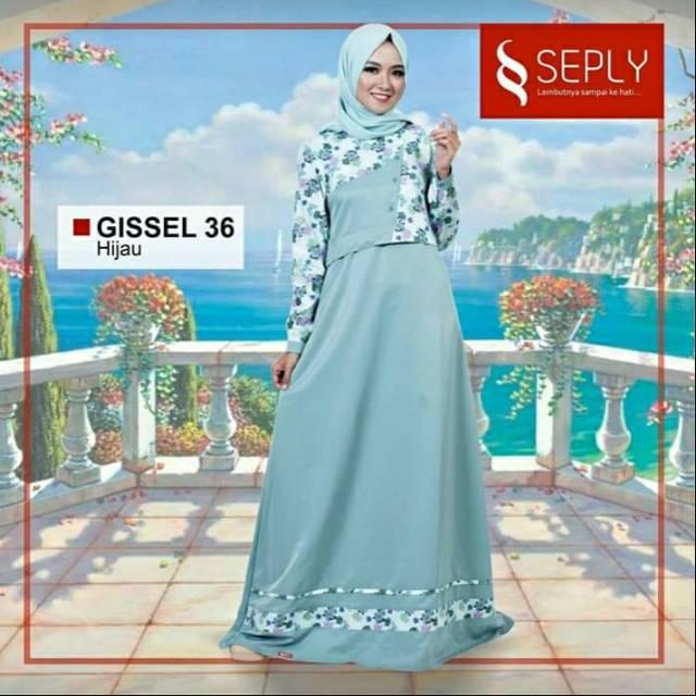 DISKON Seply Gamis Gissel 36 Hijau | Shopee Indonesia