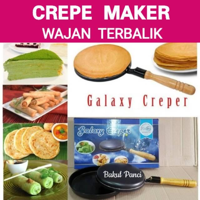 CREPE MAKER MURAH Galaxy WAJAN KWALIK TERBALIK teflon ALAT PANCI BUAT KULIT RISOL | Shopee Indonesia