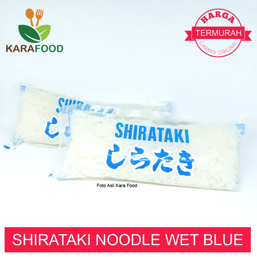 Shirataki Noodle Wet Kemasan Biru Murah Original Mie Diet Ketogenik Kf 0 Kalori Shopee Indonesia