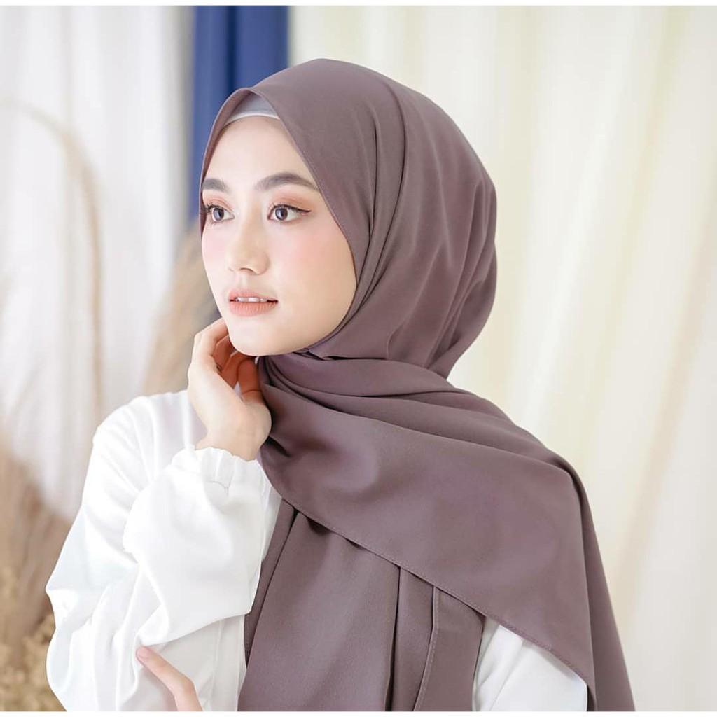 For Sale Hijab Pashmina Diamond Model Tepi Jahit Rapih Murah Shopee Indonesia