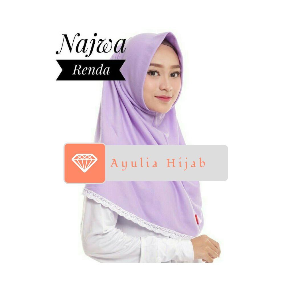 Info Harga Fashion Hijab Instan Najwa Jilbab Kaos Katun Tc Premium Biru Ready Sale Bergo Size L Slem