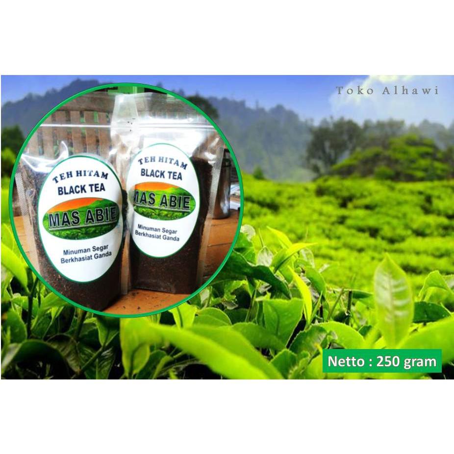 Black Tea Teh Hitam Mas Abie Minuman Kesehatan 250 G Shopee Indonesia