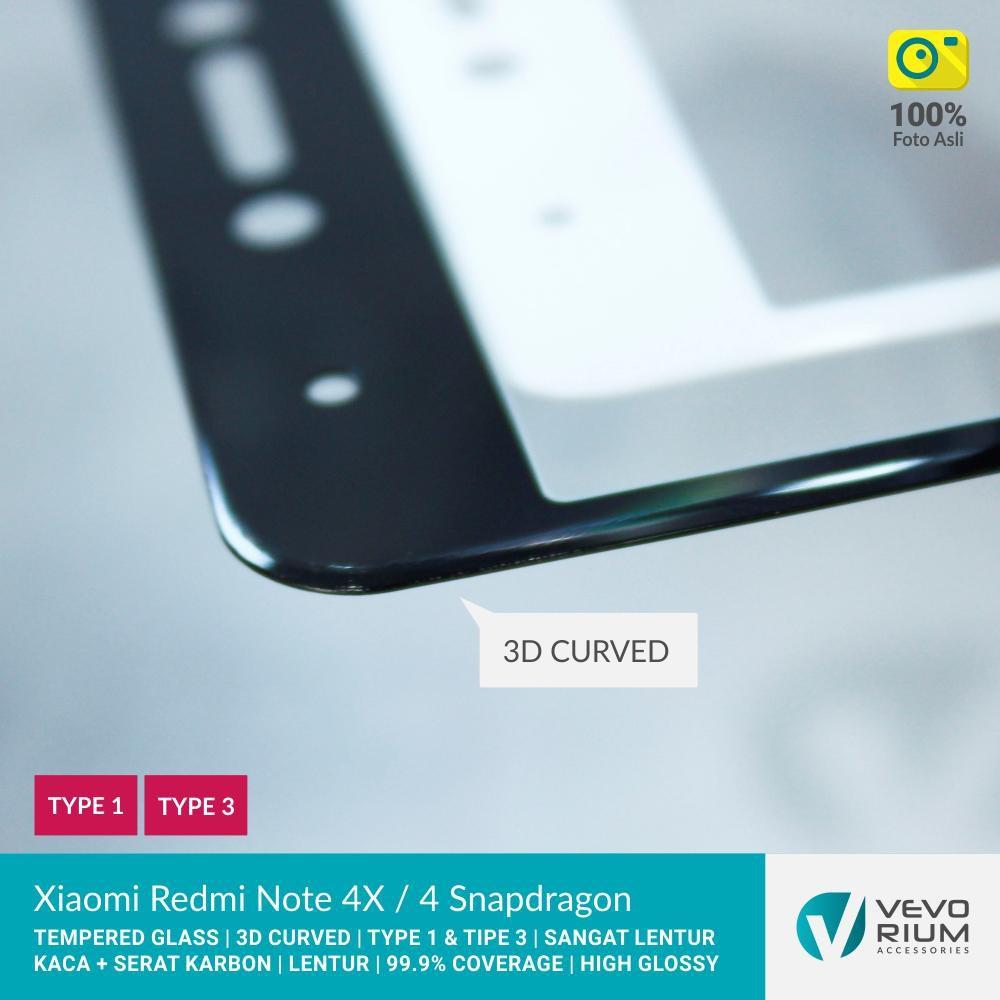[SALE] Xiaomi Redmi Note 4X 4 SNAPDRAGON Tempered Glass Color 3D Carbon Fiber Full Cover | Shopee Indonesia