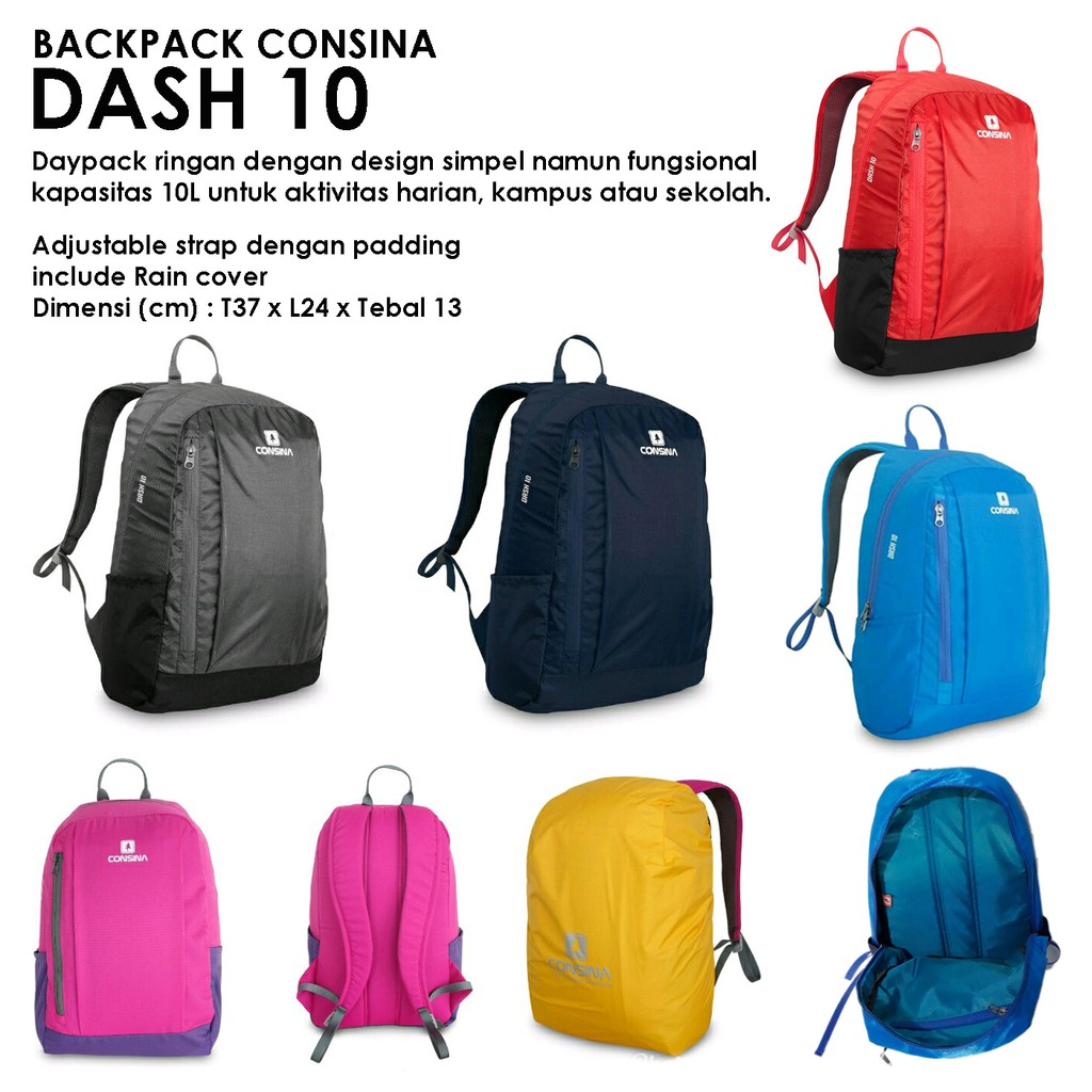 TAS CONSINA DASH 10 TAS SEKOLAH ORIGINAL  e6c8525b25