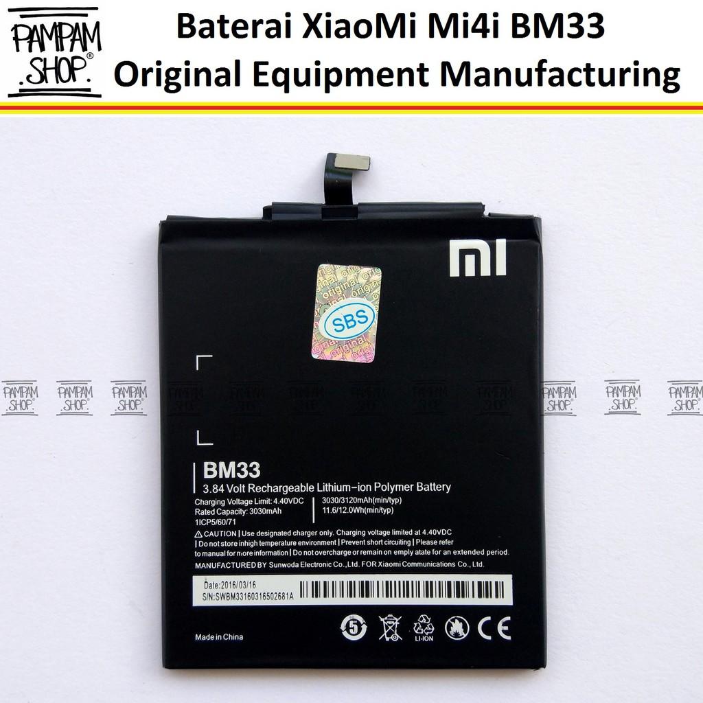 Baterai Battery Xiaomi Mi 4i Mi4i Bm33 Original Shopee Indonesia Asli Redmi Note 2 Prime Bm45 Bm 45 Xiao Batrai Batre Battre Hp