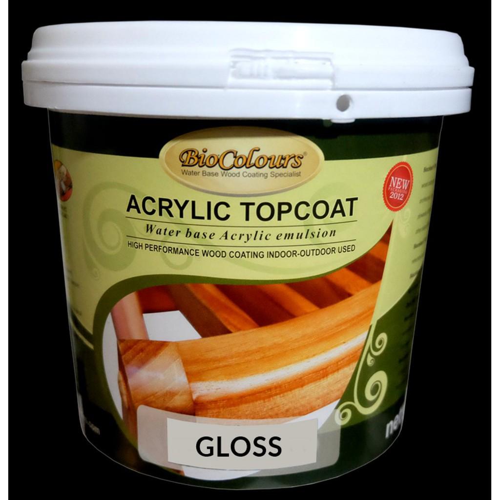 Cat Kayu Water Based Biocolours Top Coat Fa 714 Gloss Collection Shopee Indonesia Cat kayu water base