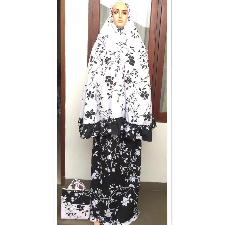Mukena Hitam Temukan Harga Dan Penawaran Online Terbaik Tatuis Tiara 312 Broken White Fashion Muslim November 2018 Shopee Indonesia