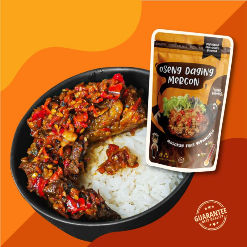 OSENG MERCON DAGING  BY OSENG BALAYAR  |  MAKANAN SIAP SAJI | FROZEN FOOD | MAKANAN PEDAS