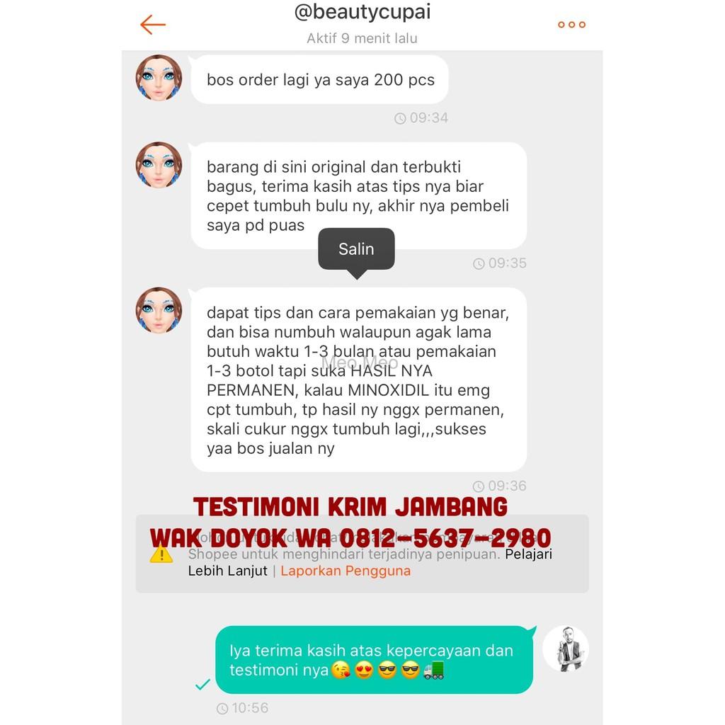 Ready Wakdoyok Krim Cream 12 5ml Pot Original 100 Wak Doyok Jambang 75 Ml Jenggot Kumis Rambut Alis Berkualitas Shopee Indonesia