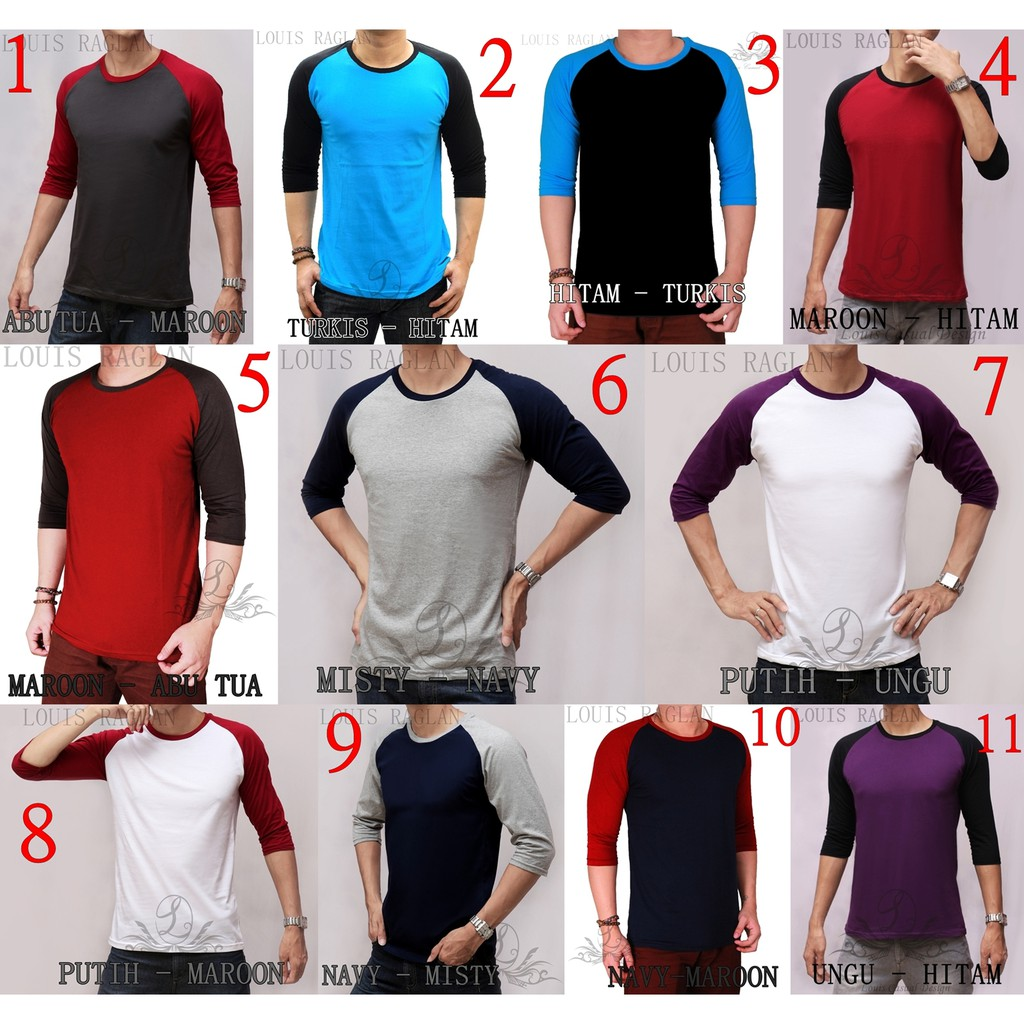 Ramayana Ar89 Kaos Tshirt Raglan 3 4 New York Biru Shopee Hitam M Indonesia