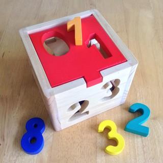 Mainan Kayu Edukasi / Edukatif - Kotak Angka 1-9