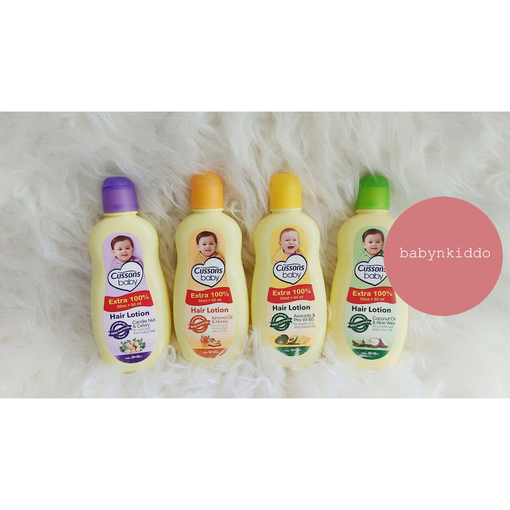 Cussons Baby Hair Lotion Candle Nut Celery 100 Ml 200 Avocado Ampamp Pro Vit B Shopee Indonesia