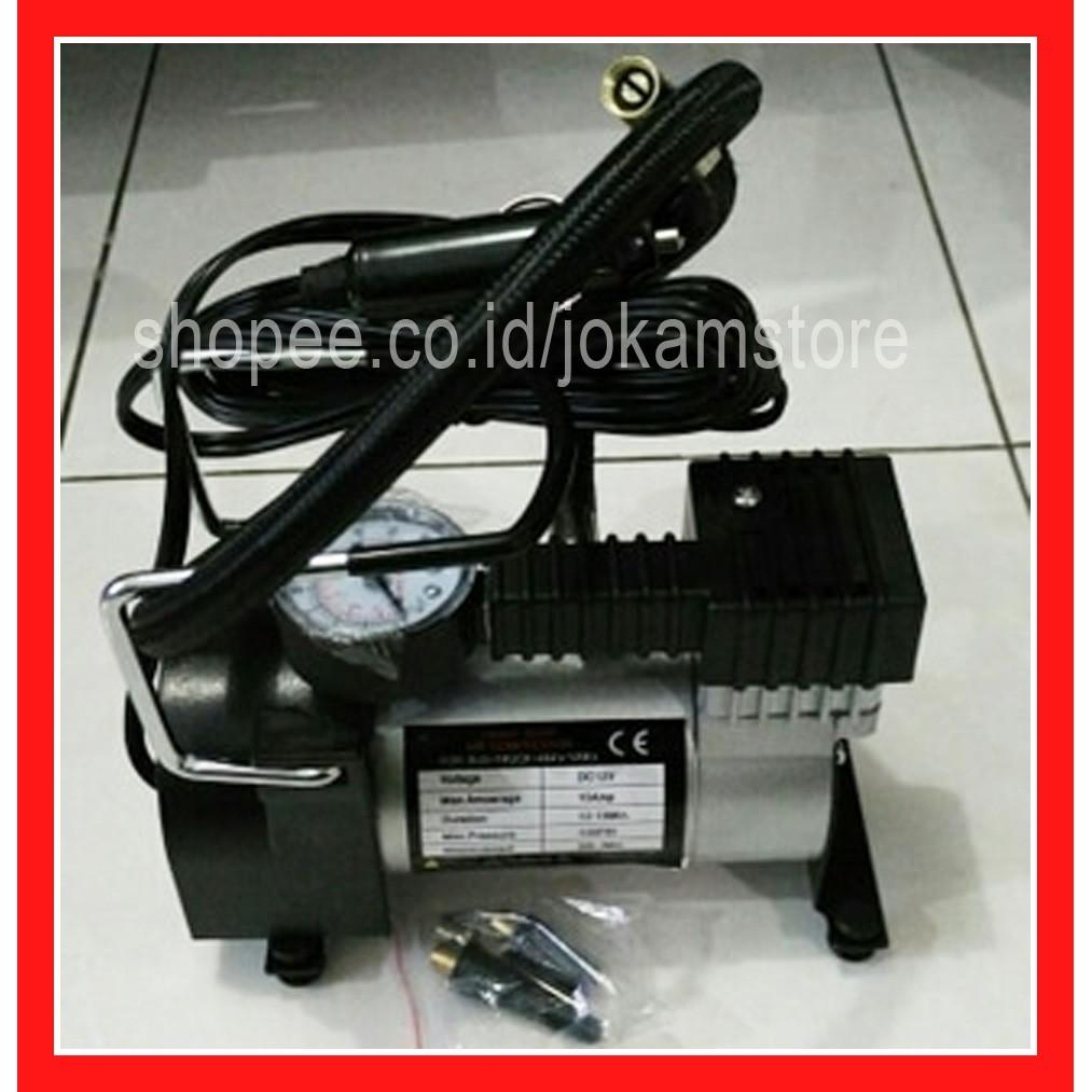 Pompa Ban Mini Tekanan 100PSI -Heavy Duty Air Compressor 12V DC mobil motor sepeda elektrik ...