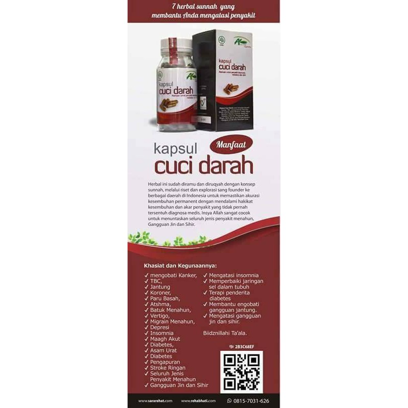 Kapsul Cuci Darah / kcd / rehab hati / herbaruqyah / rehab