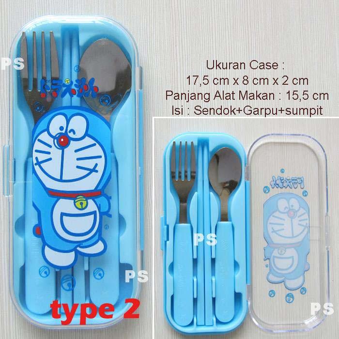 Doraemon Sendok Garpu Sumpit Case Transparant | Shopee Indonesia -. Source · Set Sendok Garpu