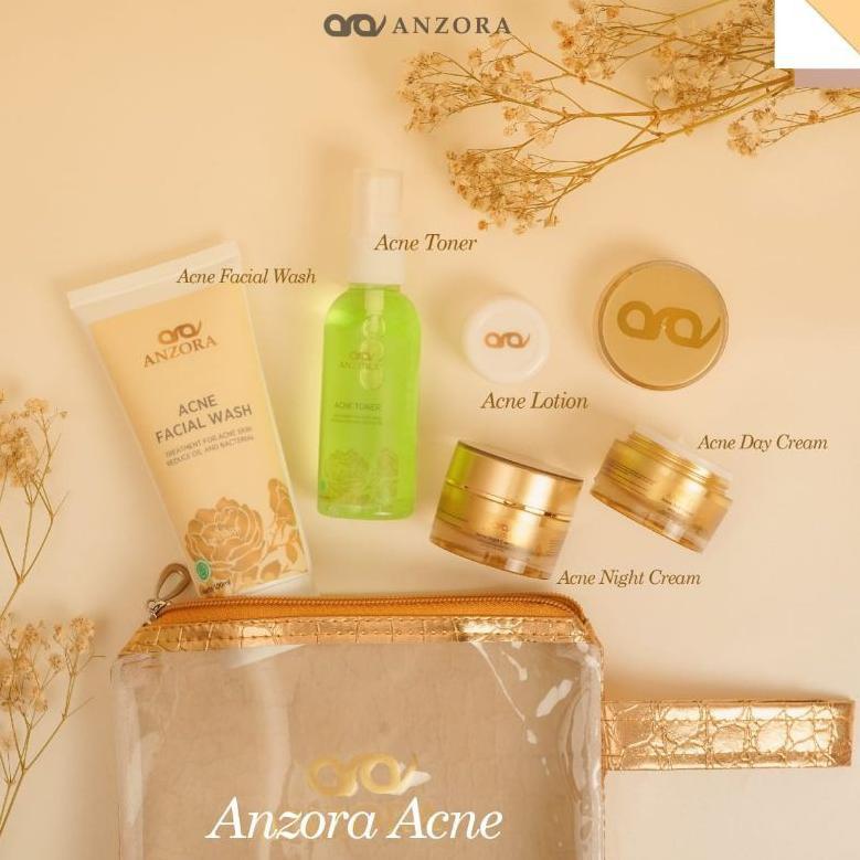distributor resmi anzora skincare/anzora acne/anzora glow/jerawat/cream jerawat/paket (ART. 5662)