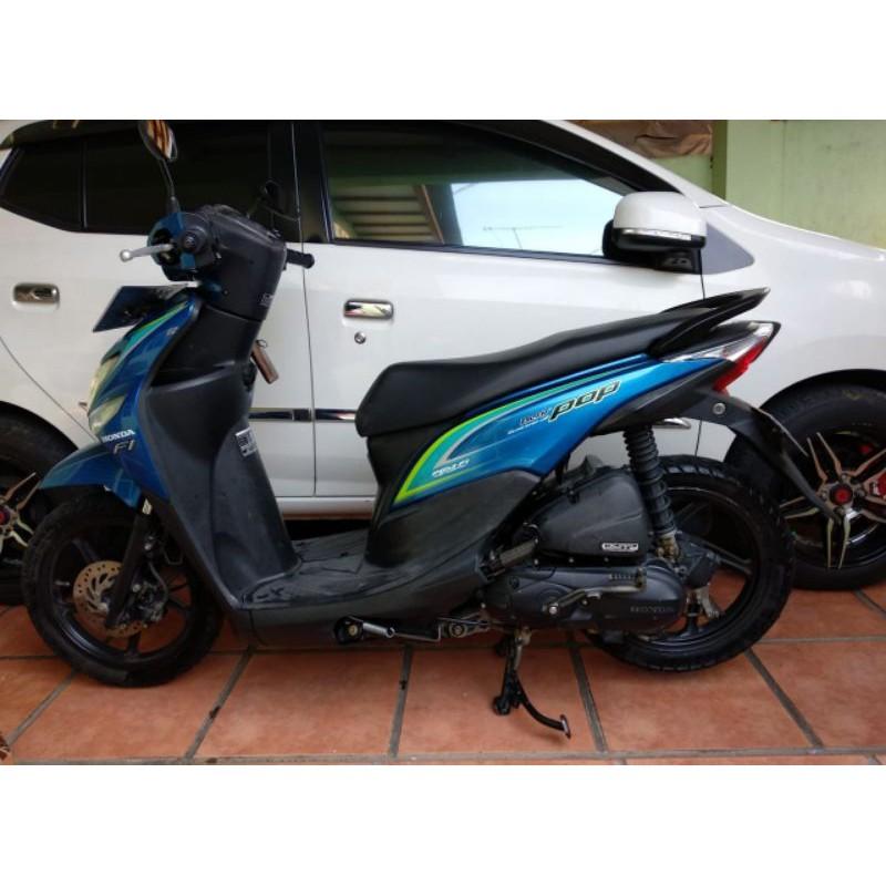 Jual Murah Motor Second Bekas Pribadi Honda Beat POP Biru 2015 Plat F Siap Pakai