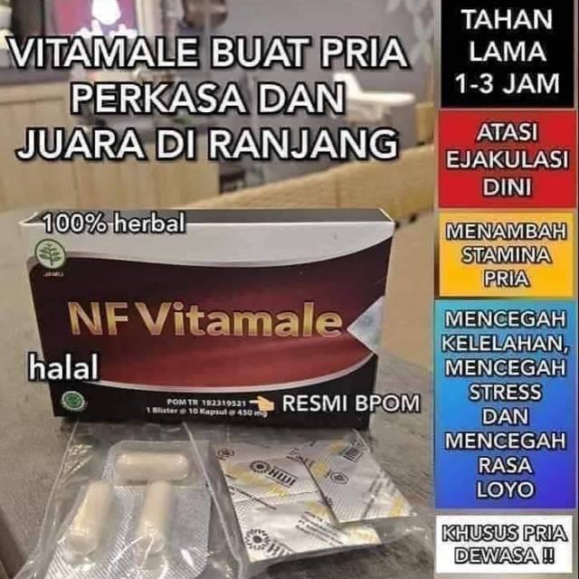 Suplemen Stamina Herbal Vf Vitamale Isi 10 Capsul Produk Original