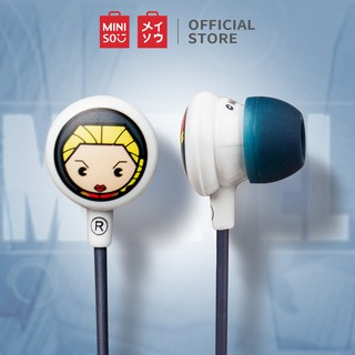MINISO Marvel In-Ear Headphones earphone headset Noise Cancelling Mic Earbuds with Kotak Penyimpanan