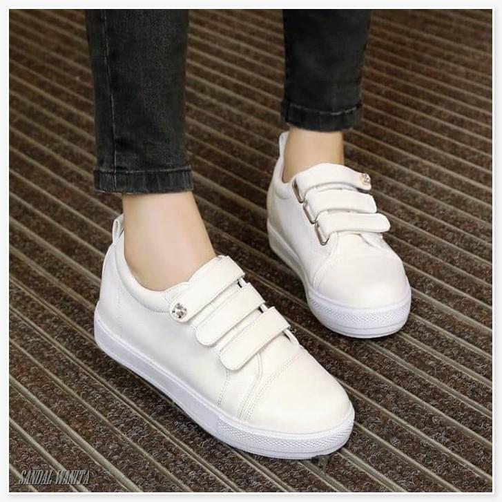 Sepatu Wanita Sneakers Sneakers Tali Prepet Ns37 Putih Shopee