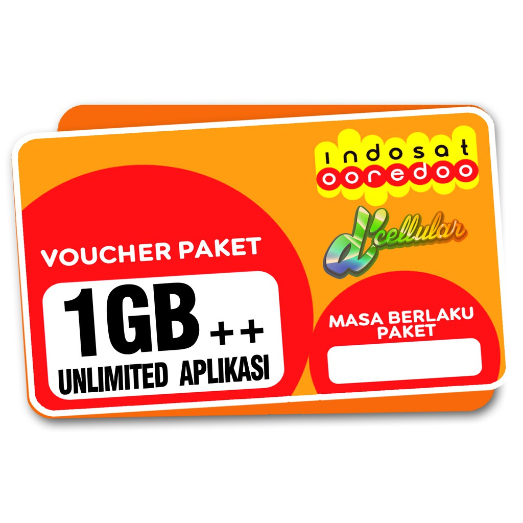Voucher Indosat 1gb Unlimited Shopee Indonesia 1 Gb Apps