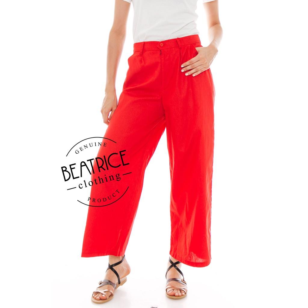 Beatrice Clothing Kama Linen Pants In Black Shopee Indonesia Alila Culottes Benji Navy