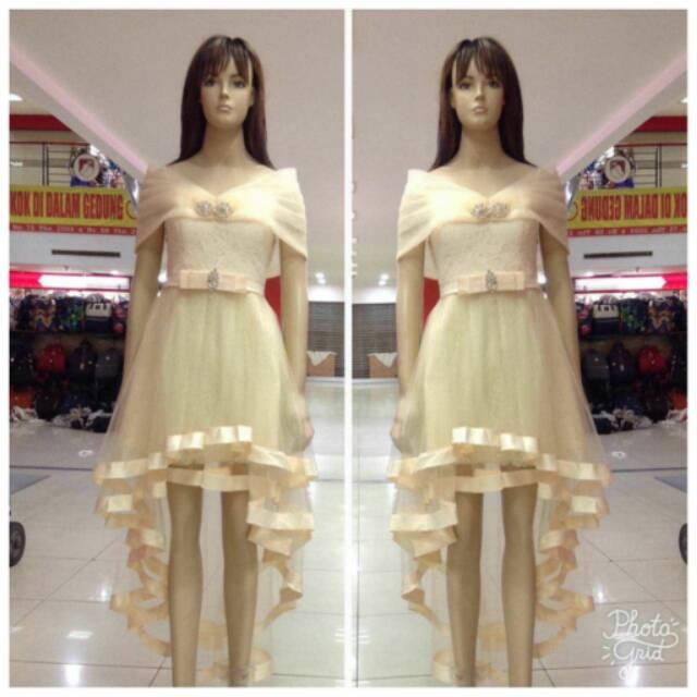 Dress import Gaun pesta korea Baju pesta pendek ekor  4f580341c8