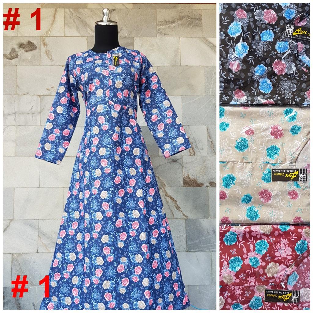 Baju Gamis Modern Keren Syari Model Terbaru Busui Baju Muslim Model Payung  Buat Kerja Santai Pesta