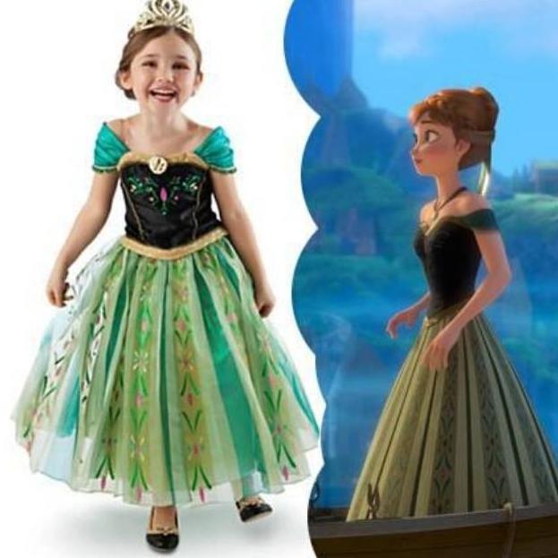 Design New Dress Elsa Anna Frozen 2 9 Tahun Baju Elsa Frozen Baju Anna Frozen Dress Prince Shopee Indonesia