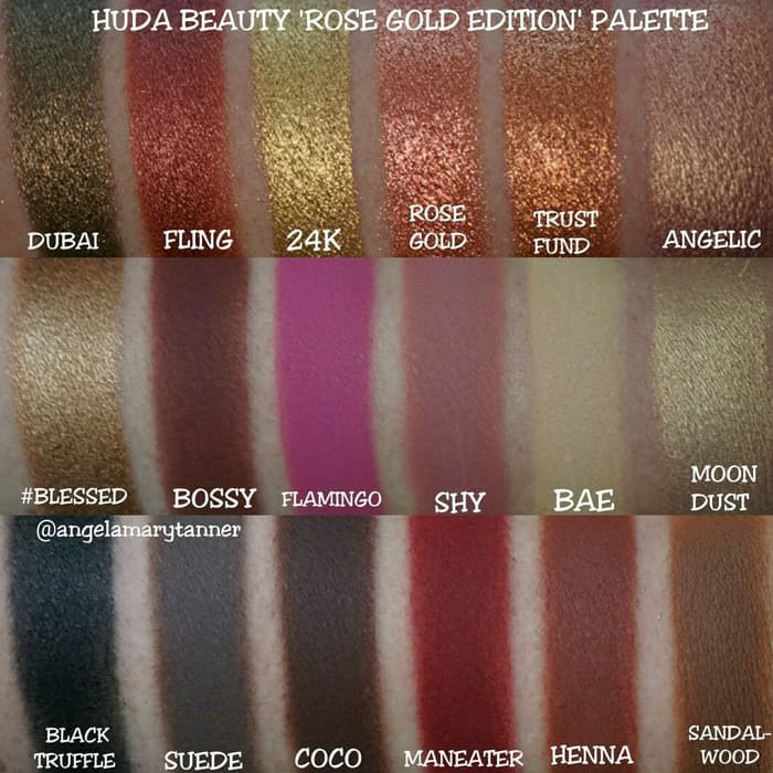 Huda Beauty Textured Shadows Palette Rose Gold Edition New