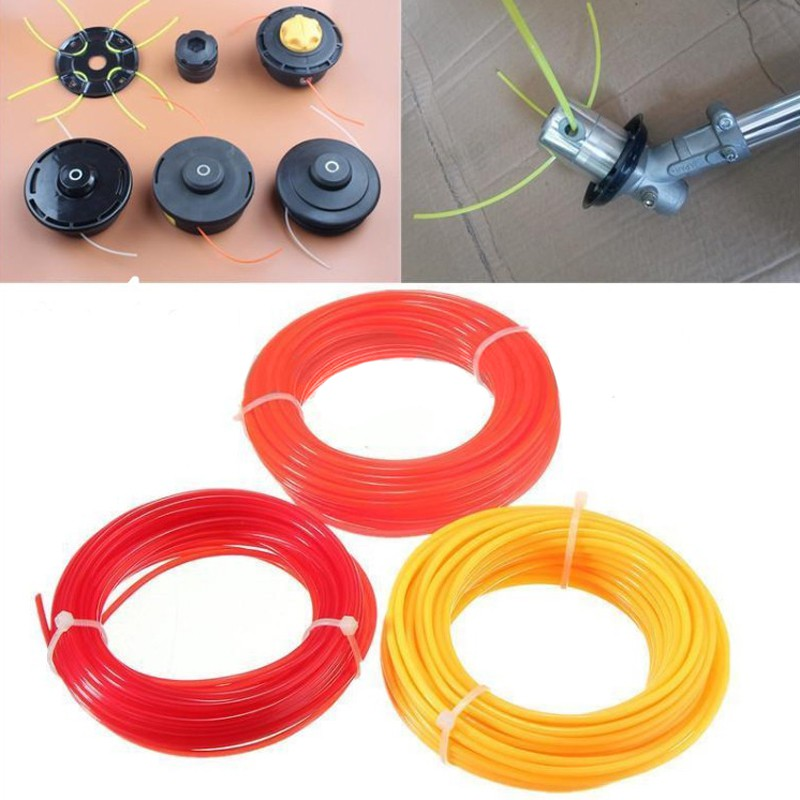 15m X 2.4mm Nylon Cord Wire Strimmer Line Spool String Grass For 16-22cc Trimmer