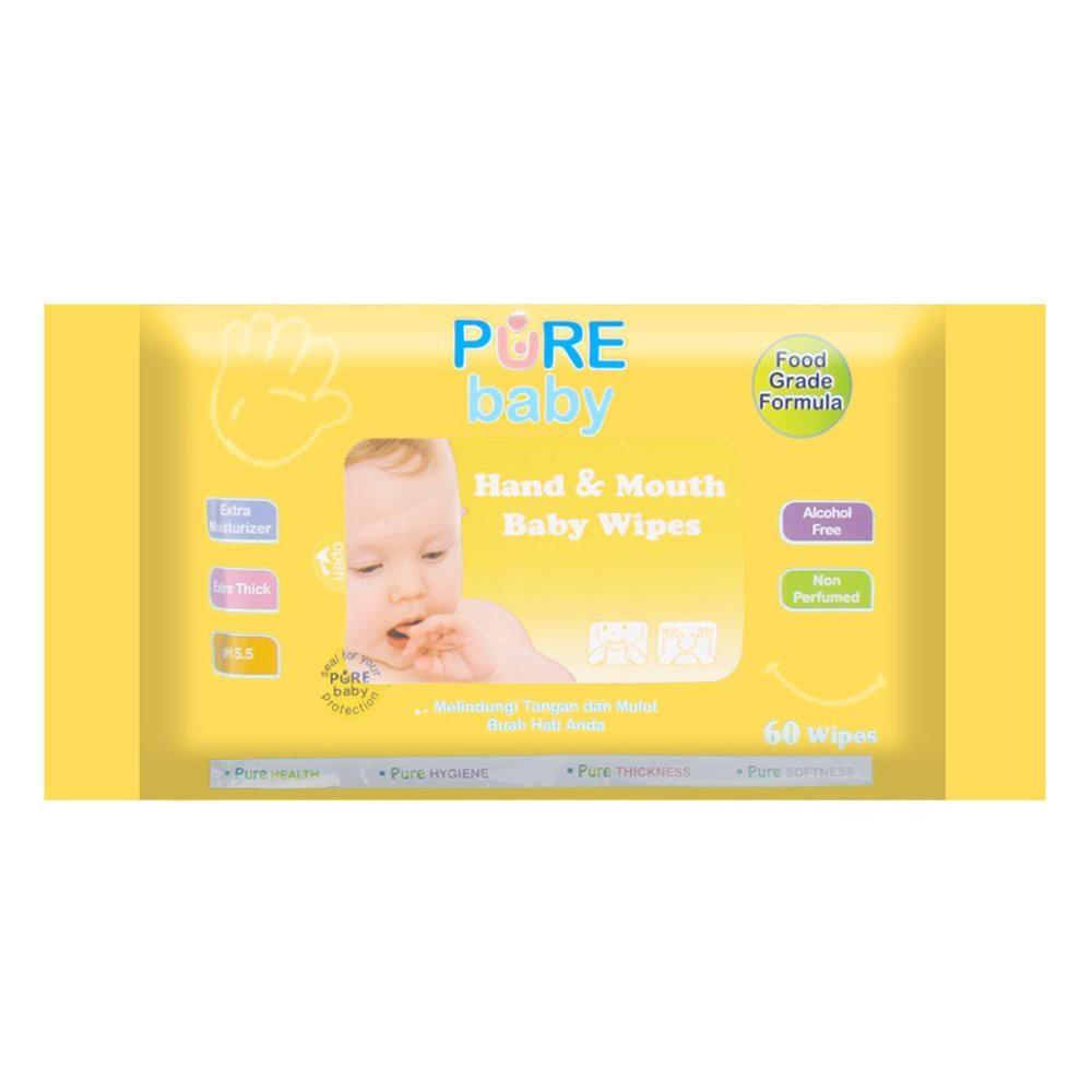 Pure Baby Wipes Hand And Mouth 60s Satuan Tissue Basah Anti Buy 4 Get 1 Free Caladine Barsoap 85gr Bakteri Utk Tangan Mulut Isi 60 Pcs Shopee Indonesia