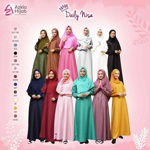 Azkia Hijab Gamis Nisa Daily Dress Syari Baju muslim Muslimah