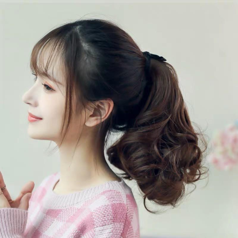 016 Ponytail Curly Pendek Kunciran Ikat Pita Shopee Indonesia