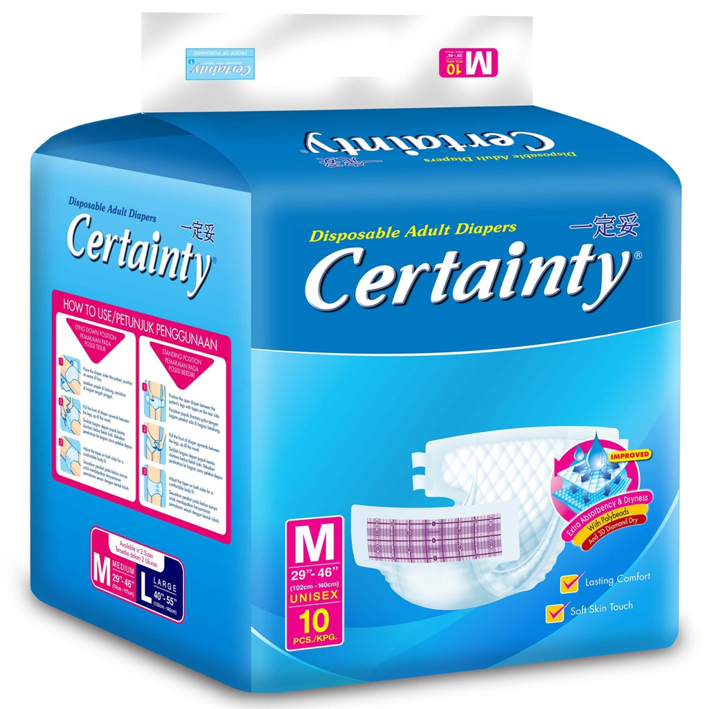 Certainty Popok Dewasa Regular Pack L 10 Shopee Indonesia We Care Pampers 8 Perekat Diapers