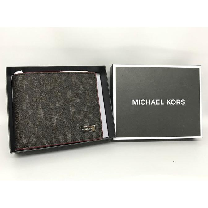 f521ccee665 Berkualitas Dompet Cowok Michael Kors Original Mk Men Wallet Bifold Sign  Brown Red Terbatas | Shopee Indonesia