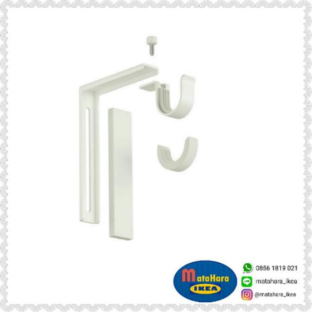 Braket Batang Rel Kain Gorden IKEA BETYDLIG Bracket Dinding Minimalis  6113853477