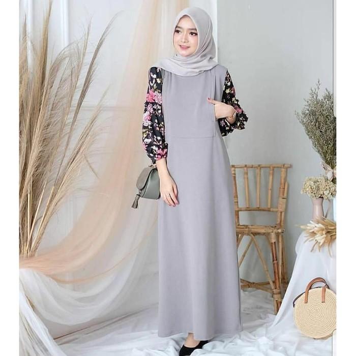 Baju Gamis Wanita Murah Syari Helena Terbaru 2020 Kekinian Murah Simple Kombi Tile Ld Ld 102cm Shopee Indonesia