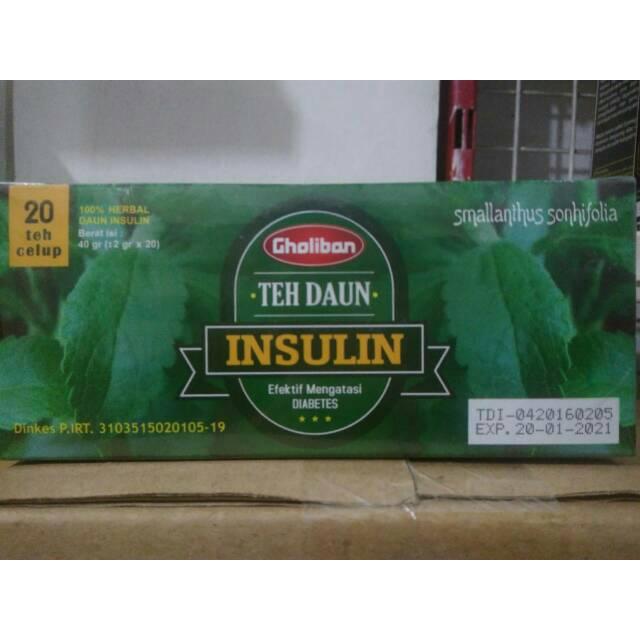 TEH CELUP DAUN INSULIN CAP TIGA DAUN - Minuman Kesehatan, Teh Hijau, Obat Herbal Diabetes Melitus | Shopee Indonesia
