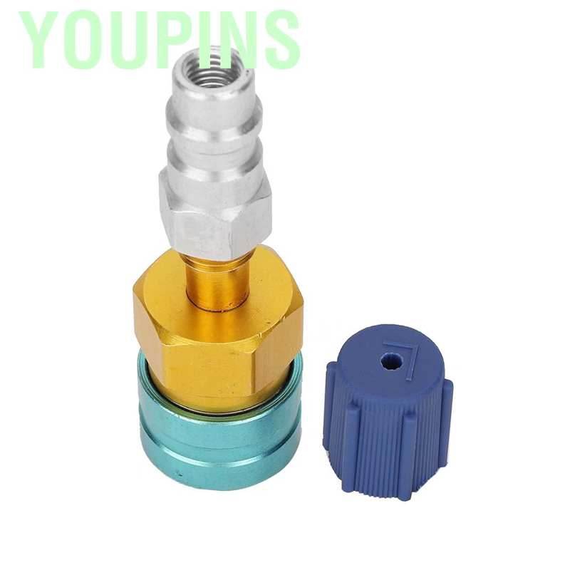 R1234YF to R134A Low Side Quick Coupler Adapter Car Air Conditioning Fitting Kit