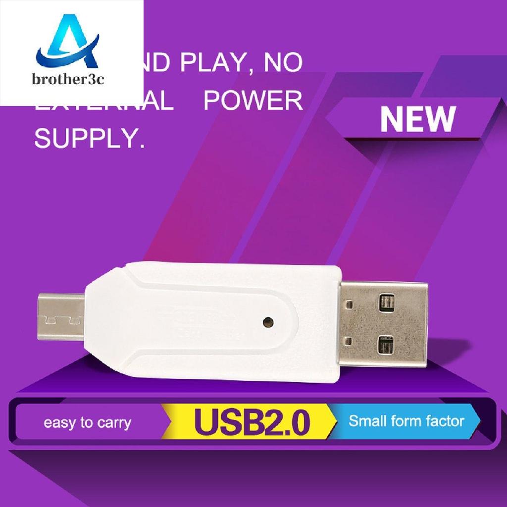 Memory Card Reader Micro USB OTG to USB 2.0 Adapter USB 2.0 SD//Micro SD Card