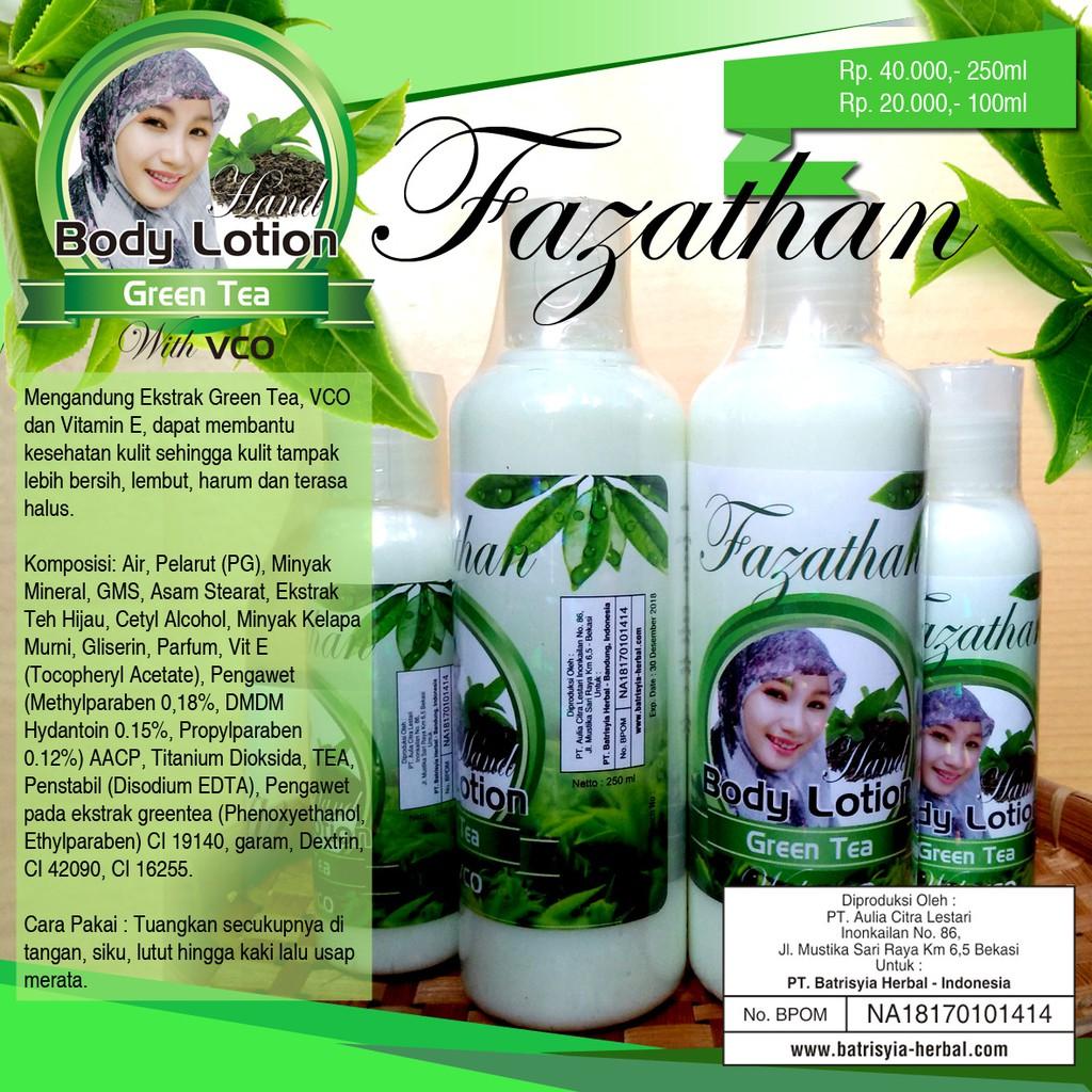 Greentea Body Lotion Batrisyia Shopee Indonesia Hand Kualitas Super