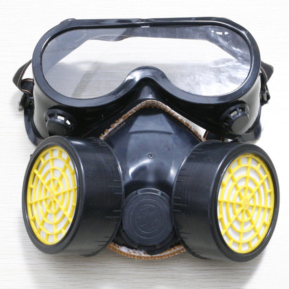 Spray Paint Mask >> Anti Dust Spray Paint Industrial Chemical Gas Respirator Mask Goggles Set