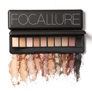 Fa08 Focallure Palet Eyeshadow 10 Warna Nude Edition Dengan Brush thumbnail