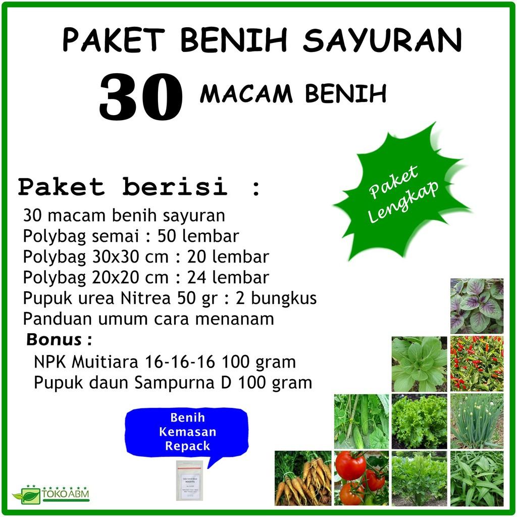 Macam Macamkemasan: Paket Benih Sayuran 30 Macam Benih Sayuran Kemasan Repack